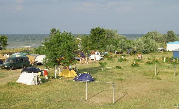 с палаткой азовское море